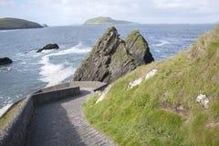 Rock at Dunquin Harbour, Dingle Peninsula. Ireland Stock Photos