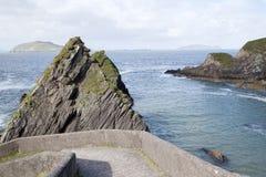 Rock at Dunquin Harbour, Slea Head; Dingle Peninsula Stock Image