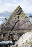Rock at Dunquin Harbour, Slea Head; Dingle Peninsula Royalty Free Stock Photos