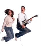Rock Duo royalty free stock photos