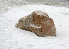 Rock duro y arena suave Fotografía de archivo libre de regalías