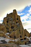 Rock Dwellings. Ancient houses carved into rocks in Capadocia Stock Image