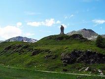 Rock eagle on the Simplon Pass in Switzerland. Stock Photos