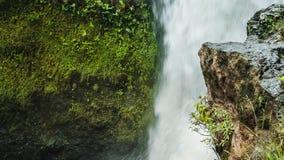 Rock edge in front of Tegenungan Waterfall. Ubud Bali.  stock video