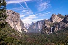 Rock El Capitan In The Yosemite National Park, California. Yoasemite Valley, Famous Natural Landmark Of The USA Royalty Free Stock Images