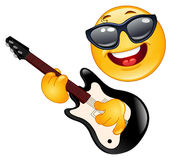 Rock emoticon vector illustration