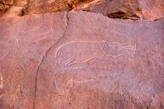 Rock engraving, Libya Stock Photos