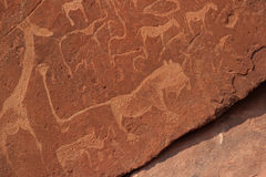 Rock Engravings royalty free stock image