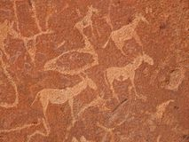 Rock engravings, Twyfelfontein, Namibia Stock Photo