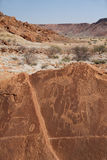 Rock engravings at Twyfelfontein Stock Photos