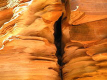 Rock Erosion. Colourful rock erosion/Kings Canyon/Australia Stock Photos