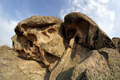 Rock erosion. Weathered. Geological formations Stock Image