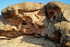 Rock erosion. Weathered. Geological formations stock images