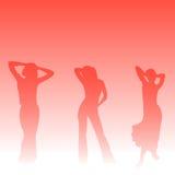 rock för 3 flicka Arkivfoto