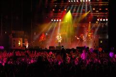rock för 3 konsert Arkivfoto