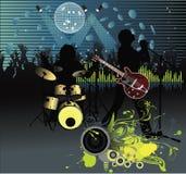 rock för bandfestivalaffisch Royaltyfria Foton