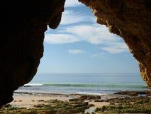 rock för bildande för algarve grottor färgglad Royaltyfri Foto