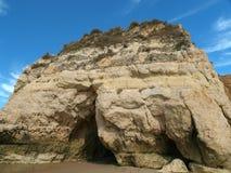 rock för bildande för algarve grottor färgglad Arkivfoto