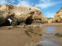rock för bildande för algarve grottor färgglad Royaltyfria Foton