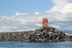 rock för hamnbryggamun royaltyfri bild