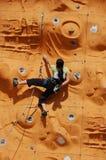 rock för lady climber2 Fotografering för Bildbyråer