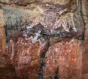 rock för målning för aborigineskonstAustralien kakadu Royaltyfria Bilder