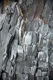 Rock face. Grey volcanic rock face of cliff on Snaefellsnes Peninsular Iceland Stock Images