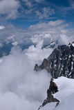 Rock Face, Aiguille du Midi, Chamonix Stock Photos