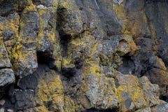 Rock Face at a Beach in Ayrshire Scotland. Rock face at a coastal beach in Ayrshire Scotland royalty free stock photo