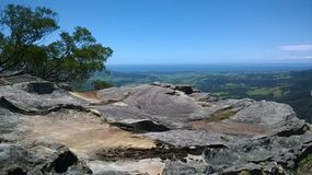 Rock Face Lookout point NSW royalty free stock photo