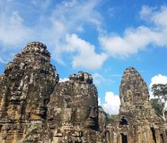 Rock faces in Thailand royalty free stock image
