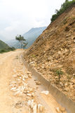 Rock fall into below of Mountainside Stock Photography