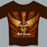Rock fan tee shirt Royalty Free Stock Photography