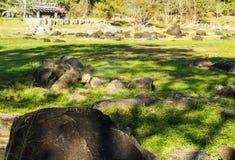 Rock at Fang Hot Springs. (Mae Fang National Park), Mon Pin, Fang Royalty Free Stock Photography