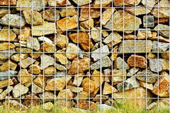 Rock Fence Stock Photography