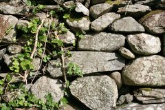 Rock fence background Royalty Free Stock Images