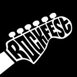 Rock fest lettering Royalty Free Stock Photos