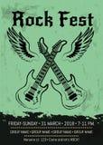Rock Fest Party Announcement Poster Design Stock Image
