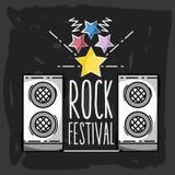 Rock festival concert music event. Vector illustration Stock Photography