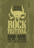 Rock festival design template. Royalty Free Stock Images