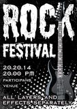 Rock festival design template Stock Photos