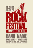 Rock festival design template. Stock Images