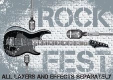 Rock festival design template Royalty Free Stock Photos