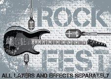 Rock festival design template stock illustration