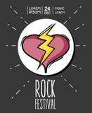 Rock festival event music concert. Vector illustration Stock Photos