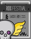 Rock festival event music concert. Vector illustration Royalty Free Stock Images