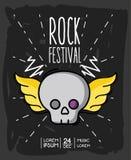 Rock festival event music concert. Vector illustration Stock Image