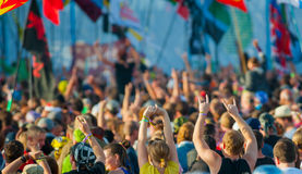 Rock festival. Fans cheering at rock festival Stock Images