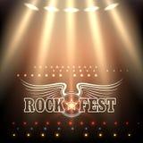 Rock Festival Poster Template Stock Photos