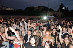 The rock festival in Ukraine Royalty Free Stock Images